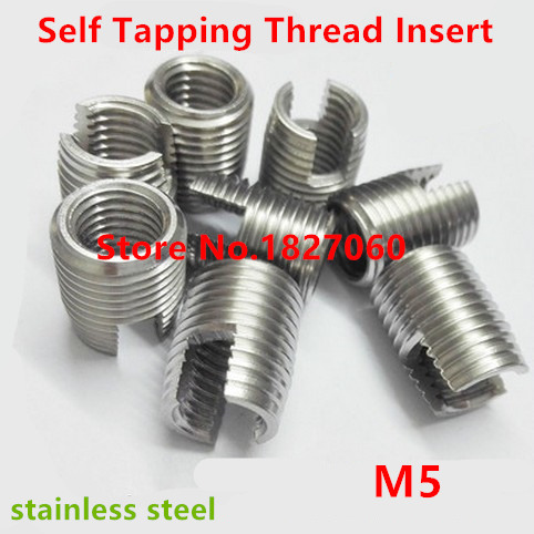 Industrial Thread Insert Parts 20Pcs Stainless Steel Self-tapping Fasteners