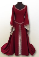 5 Colors Vintage V Neck Long Flare Sleeve Halloween Dress Autumn The Medieval Cos Clothing Plus Size Long Dress