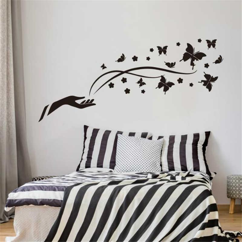 % Бабочка и китайский стиль классической красоты стены Стикеры дети гостиная спальня фон росписи home Decor поставки