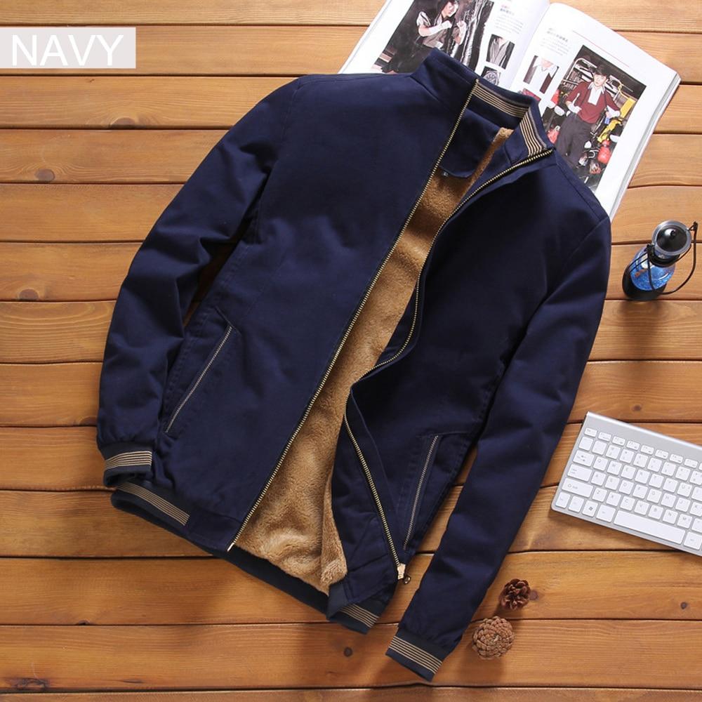 HTB1X1jZXgaH3KVjSZFpq6zhKpXaq DIMUSI Autumn Mens Bomber Jackets Casual Male Outwear Fleece Thick Warm Windbreaker Jacket Mens Military Baseball Coats Clothing