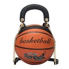 Bags Women 2019 new round womens handbag basketball Shape shoulder chain Crossbody For Girls C085