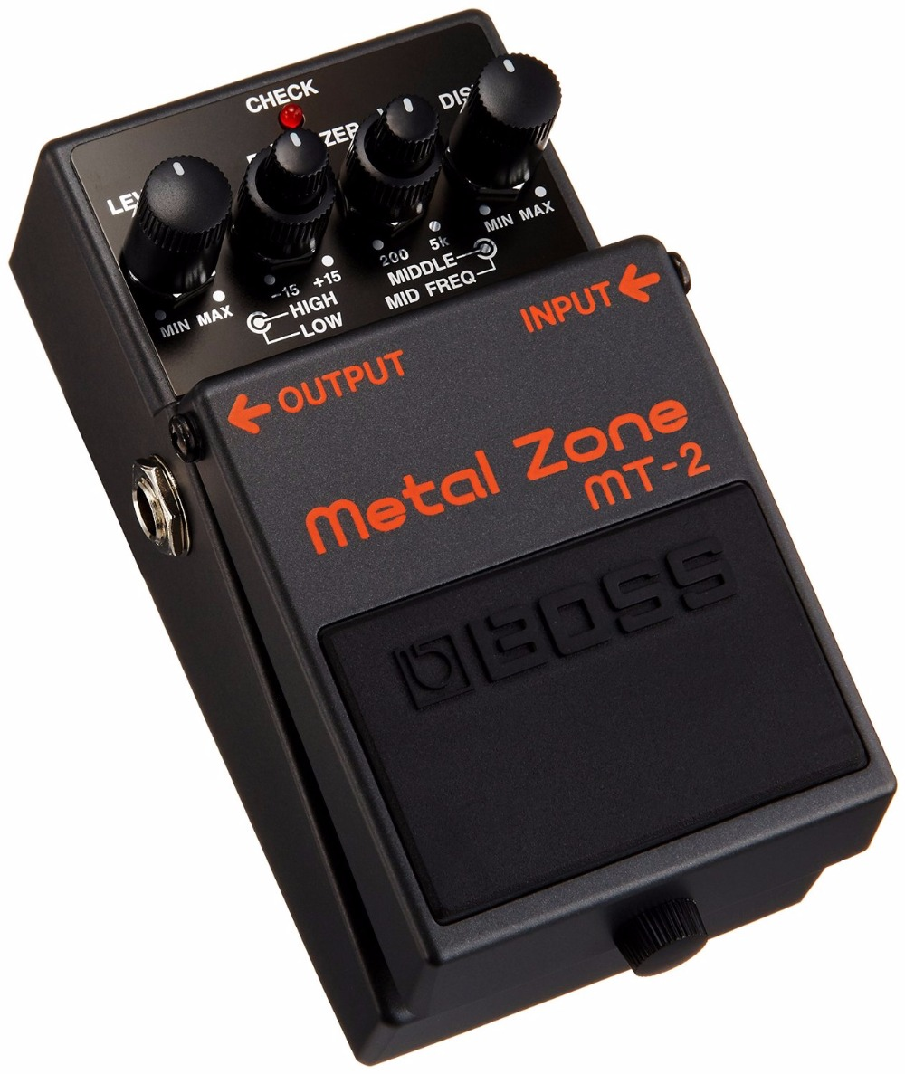 Boss Audio MT-2 Metal Zone Effects Pedal, Distortion Stompbox with 3-band EQ boss metal zone mt 2