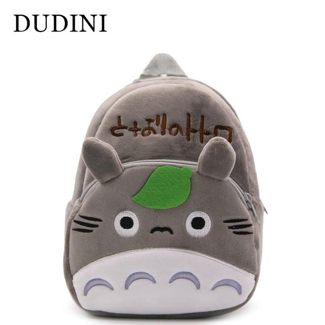 b442c34779 DUDINI Creative Lovely Totoro Children s Backpacks Kindergarten Plush  School Bags Children Backpack Cute Animal Book Bags