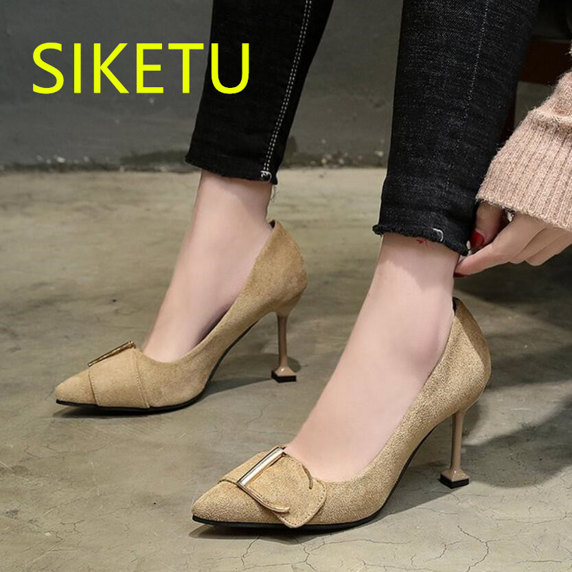 Free shipping Spring and autumn NEW women shoes Fashion sexy high heels shoes wedding shoes pumps g469 Wild buckle sandals cicime women s shoes pure wild solid autumn summer spring classics fahion gold mature sexy wedding dress pumps