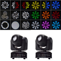 2pcs/lot 30W indoor Stage Light LED Spot Moving Head Lights 30 watt DMX Disco DJ Party Events stage Lighting Moving Heads