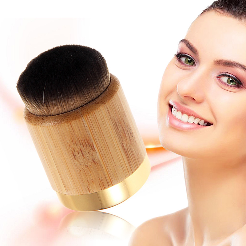 Bamboo Handle Kabuki Brushes Loose Powder Foundation flawless Blush Blusher Brush Cosmetic Makeup Brush maquiagem 1pcs makeup brushes foundation flawless powder puff blusher cosmetic cleaning tools for makeup brush maquiagem soft brushes
