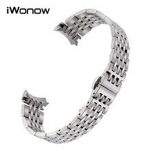 Fin courbé En Acier Inoxydable Bracelet 19mm pour Le Locle T41 T461 PRC200 T17 T006 Montre Bracelet Bande Lien Bracelet Argent Or