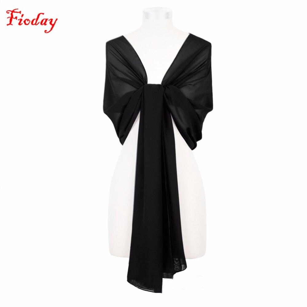 75 * 200 см плътен цвят шифон жени шалове - Аксесоари за облекла