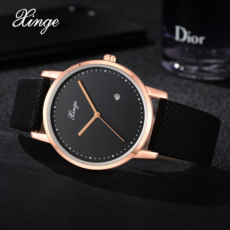 Xinge Fashion Brand Men Watch Sport Simple Quartz Watches Luxury Military Clock Business Vintage Male Wrist Watch New XG1082 baosaili fashion wrist watch men watches brand luxury famous male clock women unisex simple classic quartz leather watch bs996