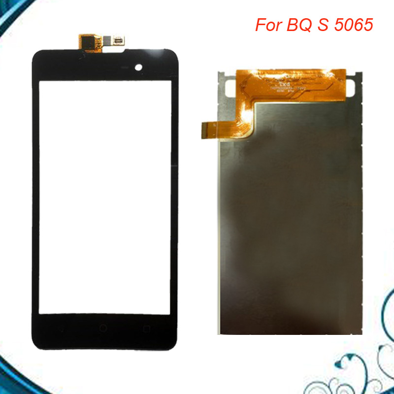 100% Tested OK For BQ BQS-5065 BQS 5065 Choice LCD Display Touch Screen Digitizer Black Color Free Shipping IN Stock