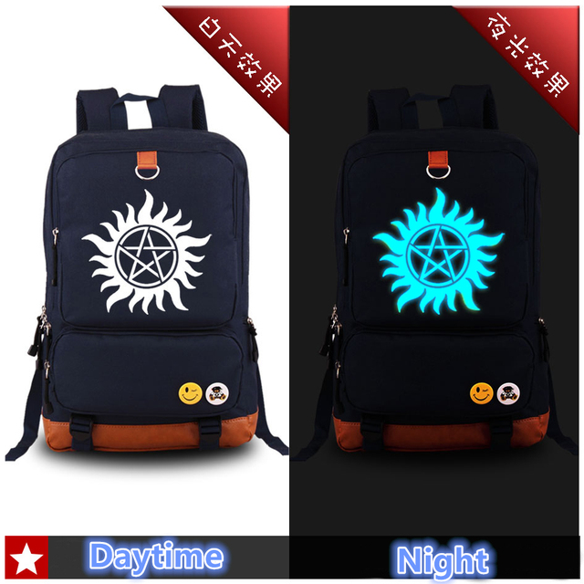 High Quality 2017 New Supernatural Luminous Canvas printing backpack Fashion Rucksack Men's backpacks School Bags for Teenagers
