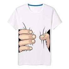 Men's Tops Tees 2017 Big Hand 3d T Shirt Summer Men Cotton Clothing Fashion Short Sleeve T-Shirt  Tee Plus Size 4XL