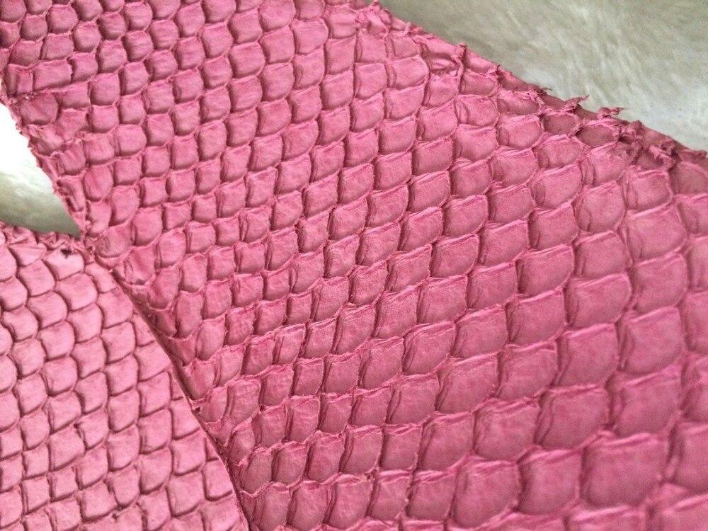 Натуральной рыбьей кожи для обуви, розовый цвет натуральной кожи рыбы, FL-10