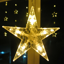138leds Ice Led String strip light Big stars Fairy Lights Christmas Window Curtains Party Wedding Room
