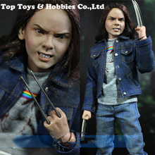 Full Set 1/6 Wolverine Laura Kinney Jeans Head/ Body/ Clothing/ Base set modelWith Wolf Claws Figures Doll Collections