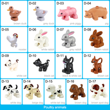 Poultry Animal Series Model Figures Big Building Blocks Animals Pets Model Educational Toys For Kids Compatible With Duploed цены