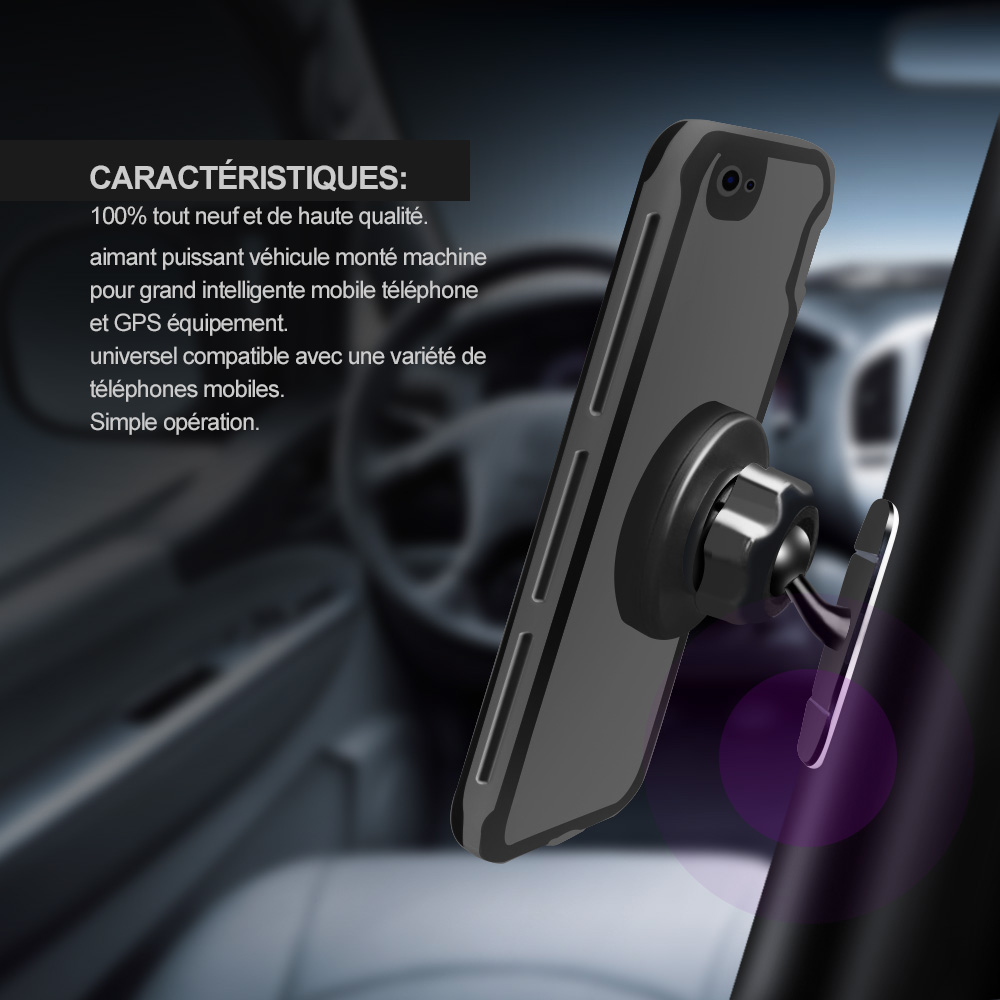 Crouch Universal Magnetic Car Phone Holder 360 Rotation GPS Mobile Phone Magnet mount Car Holder Stand For Iphone Samsung Tablet