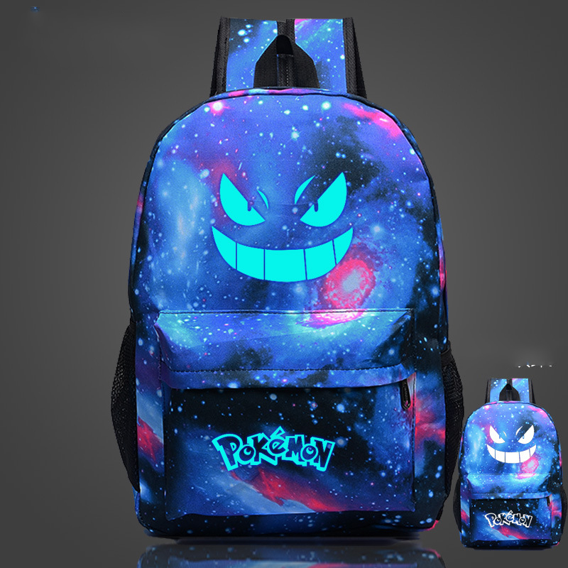 Cosplaylegend Pocket Monsters pokemom School Bags For Teenagers Mens Backpack Night Lights bag