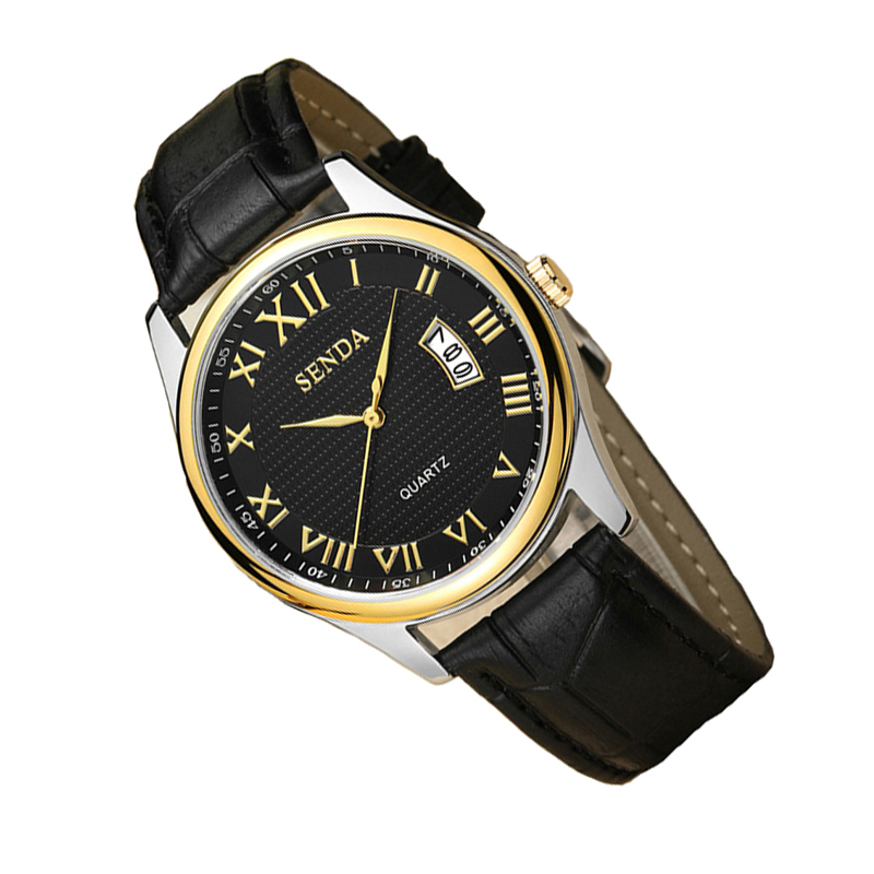 Fashion Automatic business Watch Quartz leather wristwatch with quality mens famous clock vintage relogio masculino dw watches time2u mens formal business ultrathin quartz watch wristwatch with classic design