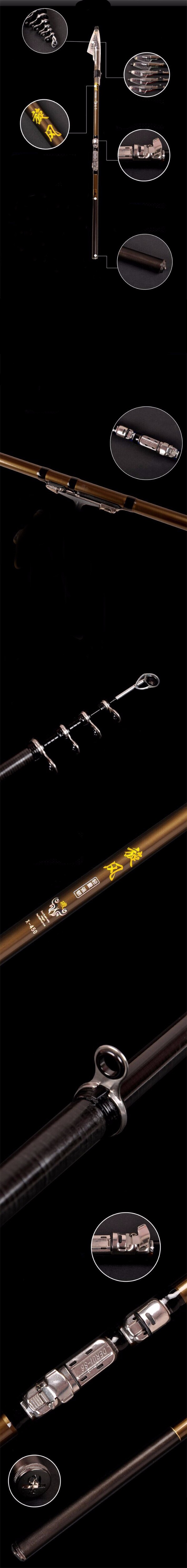 17 The latest design of fishing rod Stream Hand Carbon Fiber Casting Telescopic Lightweight toughness Fishing Rods 4