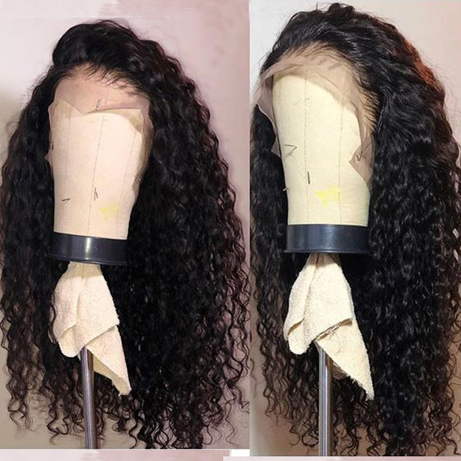 Brazilian Deep Wave Lace Front Wig With Baby Hair Lace Wigs RXY Preplucked 13x4 Lace Front Human Hair Wigs For Black Women Remy-in Human Hair Lace Wigs from Hair Extensions & Wigs    1