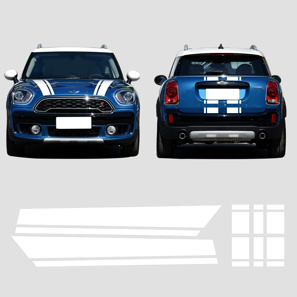 Hood Trunk Bonnet Engine Rear Body Stripe Vinyl Decal Stickers for BMW Mini Cooper S Countryman F60 2017 Accessories Car Styling