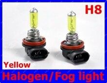 Янтарный/Желтый Видение 2 X H8 Ксенон-Галогеновая Лампочки 12 В 55 Вт Авто Фара передняя Противотуманная фара 3000 ~ 3500 К Бесплатная Доставка LLL