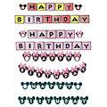 Feliz Aniversário para As Crianças 1 conjunto Mickey Minnie Mouse Letras Bandeira Bandeiras Decorações Do Partido Dos Miúdos Favor Presentes Suprimentos JJ906