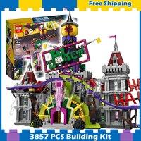 3857 шт. Super Heroes Batman Movie Джокер усадьба замок jokerland 07090 модель строительные блоки подарки устанавливает Совместимо с Lego
