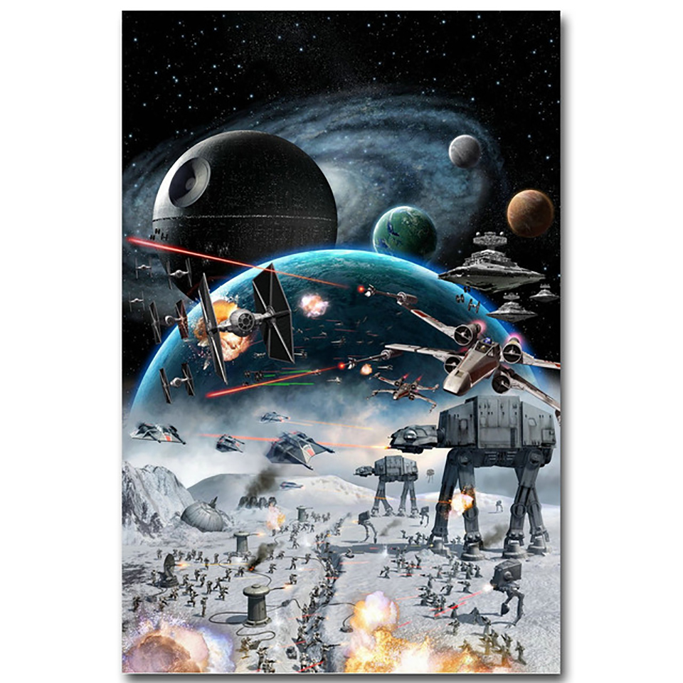 Canvas Painting Modern 1 Panel Star Wars Movie War Art Poster Hd Print Game Modular Picture For Living Room Decoration Home image