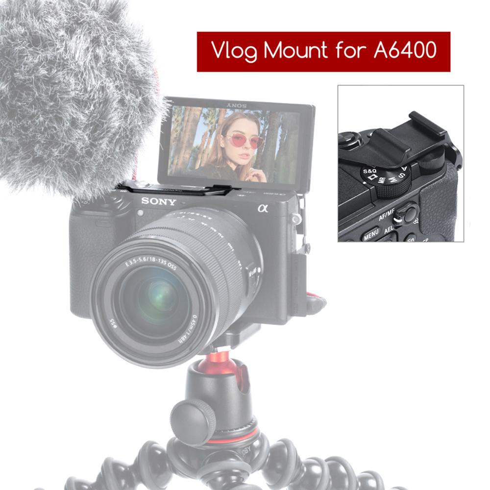 VK-3 DSLR Camera Rig Vlog Cold Shoe Plate For Sony A6400/6300 Microphone Monitor, Cold Shoe Mount Adapter Bracket