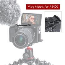VK-3 DSLR Camera Rig Vlog Cold Shoe Plate for Sony A6400/630