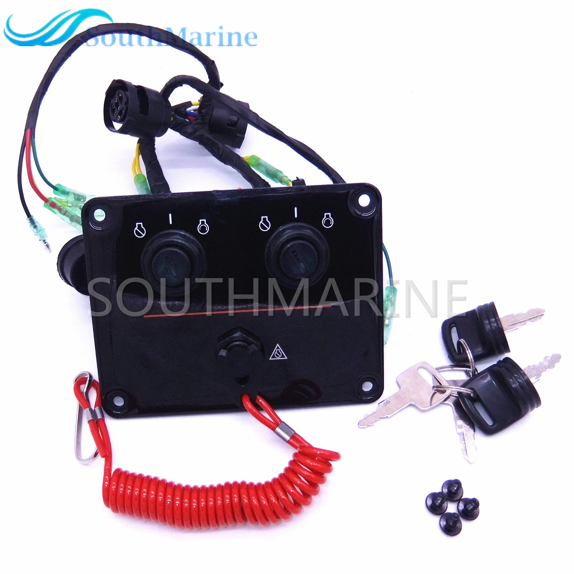 6K1-82570 6K1-82570-12-00 Outboard engine dual twin switch  panel main switch assembly for yamaha boat motor