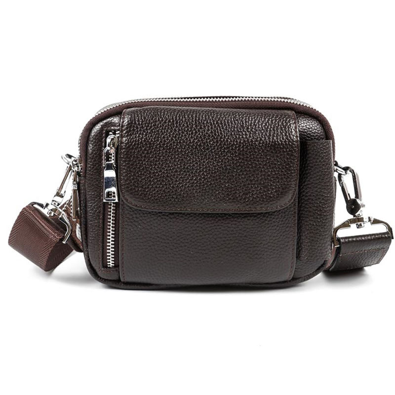 2018 New Fashion Men Genuine Leather First Layer Cowhide Cross Body Messenger Shoulder Vintage Business Bag