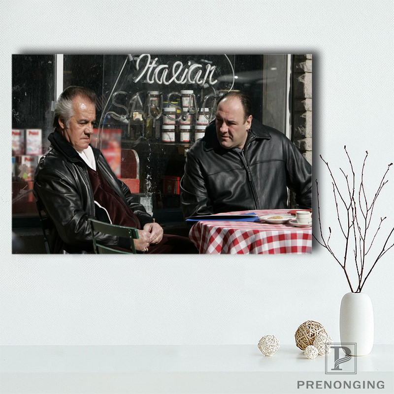 Canvas Poster Silk Fabric HD Poster, New Brand Mafia Movie Gangster Montage Poster Room Decor Poster@190414-H-17 image