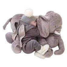 60cm peluş fil oyuncak bebek peluş fil yumuşak yatıştırmak fil Playmate bebek bebek fil yastık peluş oyuncaklar dolması Doll
