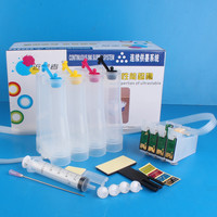 Universal 4Color Continuous Ink Supply System CISS kit with accessaries ink tank for EPSON T10 T11 T20 TX100 TX200 TX400 Printer
