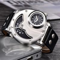 Oulm часы Уникальный дизайн кратной часовой пояс кожаный ремень мужской кварцевые наручные часы Oulm 9591 Мода Для мужчин часы reloj hombre