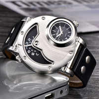 Oulm relojes de diseño único Multipe correa de cuero de zona horaria masculino Quart reloj de pulsera Oulm 9591 moda hombres relojes reloj hombre
