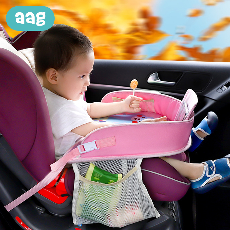 AAG Waterproof Child Car Seat Table Organizer Baby Chair Tray Storage Box Kids Toy Food Holder Baby Dining Desk In-car Accessory