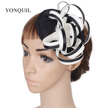 096fe9b2770 18 Colors Elegant vintage fascinators hats women ladies wedding hats party  headwear craft personality DIY hair