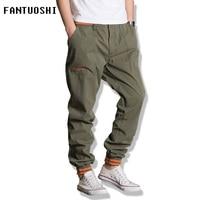 Plus Size 5XL Mens Joggers Chino Pants Casual Fashion Slim Jogger Cotton Sweatpants Men Beam Feet