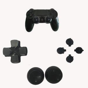 Image 2 - عصا تحكم تناظرية معدنية thumbStick غطاء مقبض علوي + D pad زر رصاصة مفتاح العمل لبلاي ستيشن Dualshock 4 PS4 وحدة تحكم استبدال