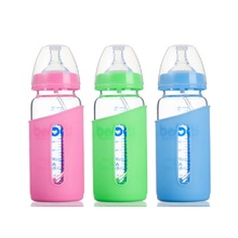 Baby Feeding Bottle Infant Baby Bottles Baby Learning To Drink Bottle Non-toxic Crystal Glass Nursing Feeder 300ml