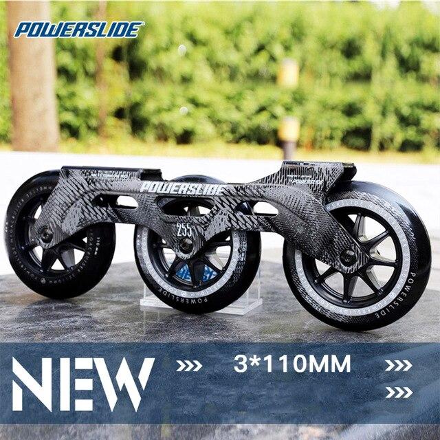 100% מקורי Powerslide מהירות סקייט מסגרת 3*110mm 255mm עם 110mm Powerslide החלקה גלגלים עבור 165mm מרחק Patines בסיס