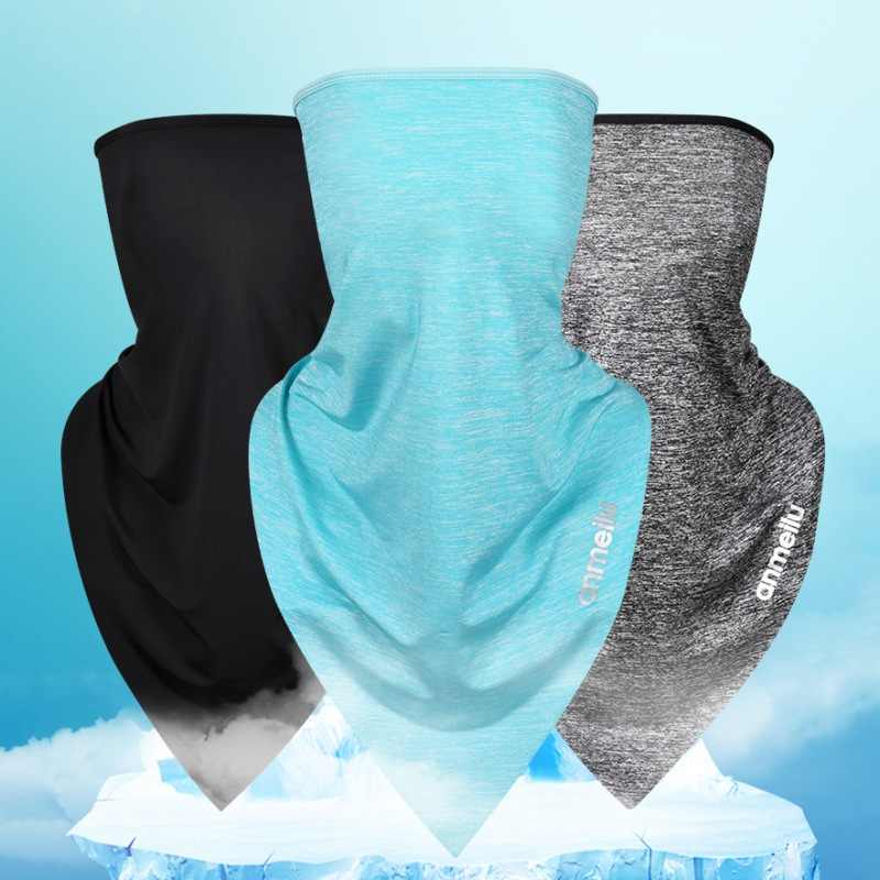 Mask Ice Silk Functional Anti-UV Quick Dry Breathable Moisture Wicking Hairband Cap Scarf Outdoor Sportswear Accessories