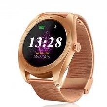 2016 neue Runde K89 Smart uhr MTK2502C Bluetooth 4,0 Herz Rate Monitor Erinnern anruf SMS Smartwatch Für Android IOS handy telefon
