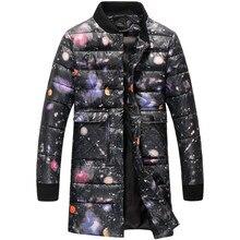 2016 зима новый стиль мужской повседневная мода высокого качества с капюшоном куртки печати толстые Ветровки мужские Зимние куртки, бесплатная доставка