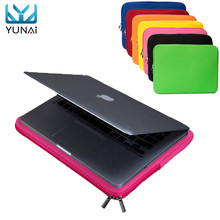 YUNAI New Portable Soft Universal 14″ Laptop Bag Case Cover Sleeve Pouch For Apple/Macbook 14″ Notebook For Samsung Laptop
