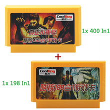 400 in 1 + 198 in 1 2pcs 8 bit 60 pin classical games card fc/nes game card for video game console Free Shipping